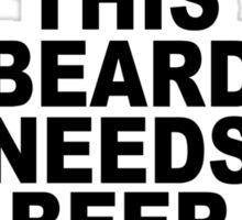 Beard t shirt funny t shirt beer tshirt cool shirt mens tshirt austin texas (also available on crewneck sweatshirts and hoodies) SM-5XL Sticker