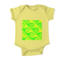 Green yellow swirls spring colors One Piece - Short Sleeve
