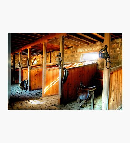 Inside the Stables at Barwon Park Photographic Print