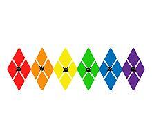 Rainbow Argyle with Skulls Photographic Print