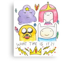 What Time Is It? Adventure Time! Canvas Print