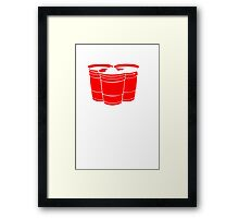 Beer Pong Get Your Balls Wet T-Shirt Funny Drinking Game TEE College Humor Cup Framed Print