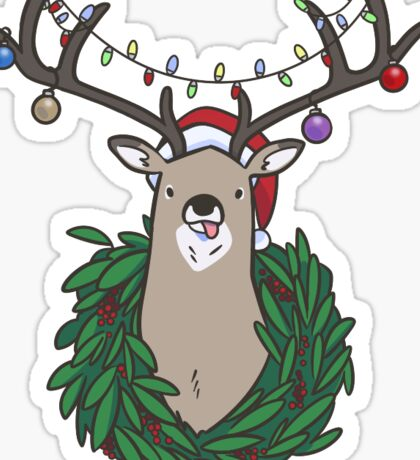 Deer Santa, All I want for Christmas... Sticker