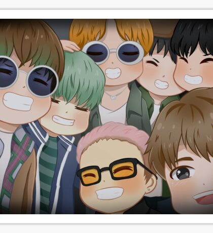 BTS - RUN Sticker
