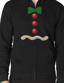 Gingerbread Man Christmas Costume Zipped Hoodie