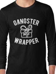 Gangster Wrapper Funny Christmas Long Sleeve T-Shirt