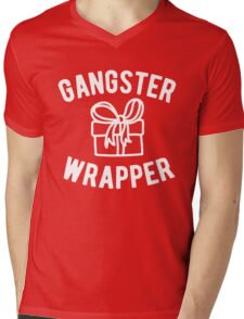 Gangster Wrapper Funny Christmas Mens V-Neck T-Shirt