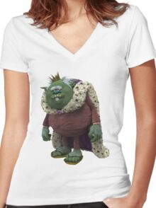 Trolls King Gristle Sr Women's Fitted V-Neck T-Shirt