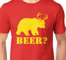 Beer T-Shirt Bear Plus Deer Funny TEE Drinking College Humor Party Shirt Unisex T-Shirt