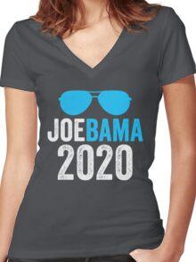 Joebama 2020 Joe Biden Barack Obama Women's Fitted V-Neck T-Shirt