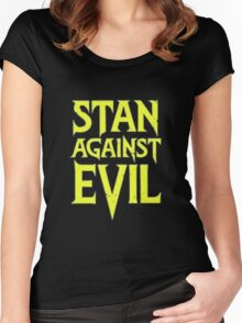 Stan Against Evil Logo Women's Fitted Scoop T-Shirt