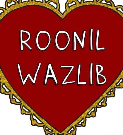 Roonil Wazlib Heart Sticker