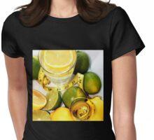 Measuring tape wrapped around lemon. Valentina Averina Photography . BOSTON, MA. USA. Womens Fitted T-Shirt