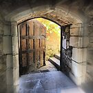 Medieval Wishing ( 11 ) =  The Rear Door in the Great Hall. by Larry Lingard-Davis