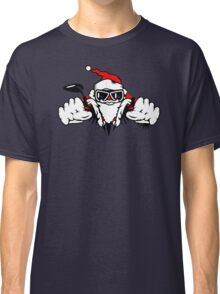 Santa Claus on Motorcycle Classic T-Shirt