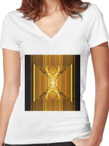 Focal Point Women's Fitted V-Neck T-Shirt