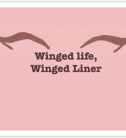 Winged Life, Winged Liner Sticker
