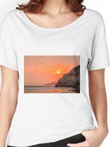 Pelican Sunset Women's Relaxed Fit T-Shirt