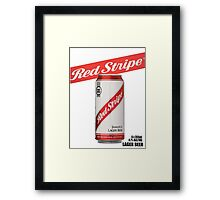 Red Stripe:II - Tall Can  Framed Print