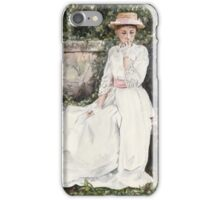Vintage Elegance watercolour painting by Paris Lomé iPhone Case/Skin