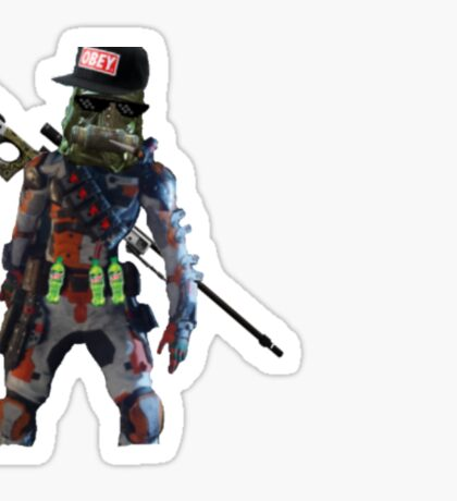 Mr Videogame Person Character Sticker