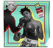 Andy Warhol vs. Basquiat Poster