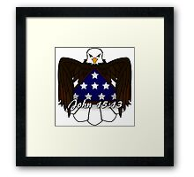 Greater Love Has No One Framed Print