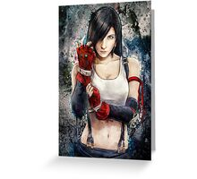 Tifa Lockhart FF7 Portrait Greeting Card