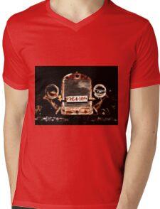 Grunge Tractor Mens V-Neck T-Shirt