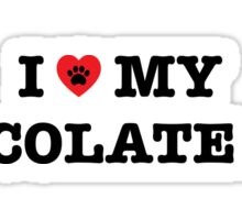 I Heart My Chocolate Lab Sticker