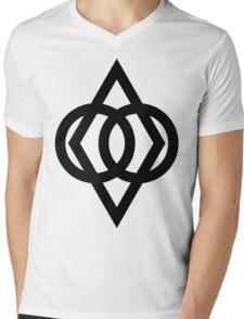Protected (Black) Mens V-Neck T-Shirt
