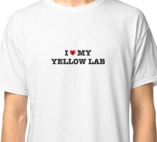 I Heart My Yellow Lab Classic T-Shirt