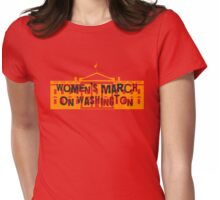Women's March On Washington/ White House Womens Fitted T-Shirt