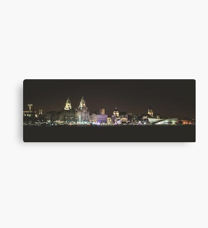 Liverpool Waterfront Skyline Canvas Print