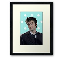 Tenth Doctor (with polka dots) Framed Print