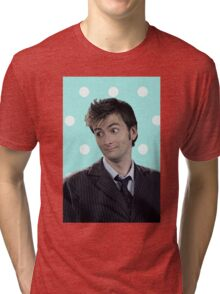 Tenth Doctor (with polka dots) Tri-blend T-Shirt