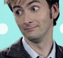 Tenth Doctor (with polka dots) Sticker