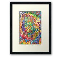 Colour Tangles Framed Print