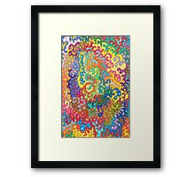 Colour Tangles Framed Print