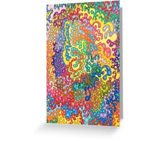 Colour Tangles Greeting Card