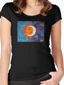 Solstice Acrylic Painting Women's Fitted Scoop T-Shirt