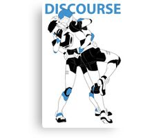 Blue Discourse Canvas Print