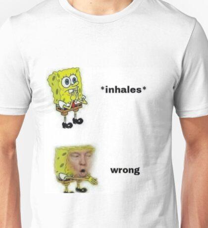 Wrong Donald Trump Spongebob Meme Unisex T-Shirt