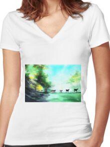 Shepherd Women's Fitted V-Neck T-Shirt