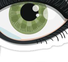 Green Lying Eye Crying In Tears Sticker