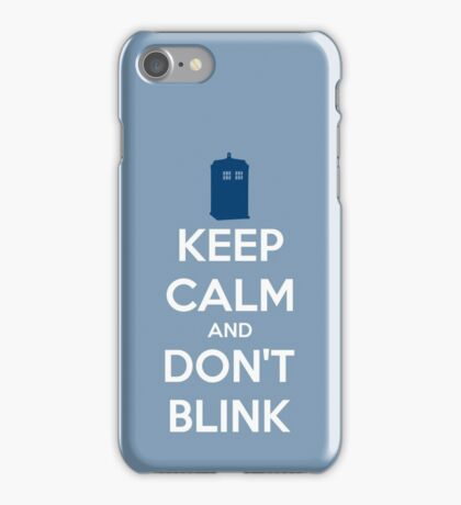 Keep Calm And Don't Blink ver.lightblue iPhone Case/Skin