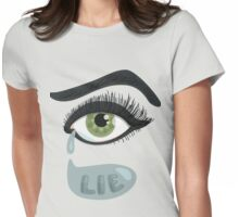 Green Lying Eye Crying In Tears Womens Fitted T-Shirt