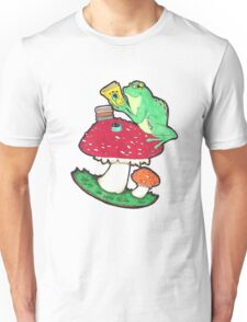 Bookish Frog in color Unisex T-Shirt