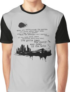 """""""Way Down In The Hole"""" - The Wire - Dark Graphic T-Shirt"""