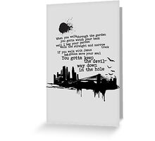 """Way Down In The Hole"" - The Wire - Dark Greeting Card"